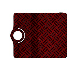 Woven2 Black Marble & Red Grunge Kindle Fire Hdx 8 9  Flip 360 Case by trendistuff