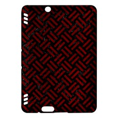 Woven2 Black Marble & Red Grunge (r) Kindle Fire Hdx Hardshell Case by trendistuff