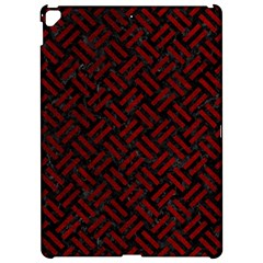 Woven2 Black Marble & Red Grunge (r) Apple Ipad Pro 12 9   Hardshell Case by trendistuff