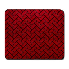 Brick2 Black Marble & Red Leather Large Mousepads by trendistuff