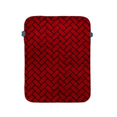Brick2 Black Marble & Red Leather Apple Ipad 2/3/4 Protective Soft Cases by trendistuff