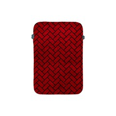 Brick2 Black Marble & Red Leather Apple Ipad Mini Protective Soft Cases by trendistuff