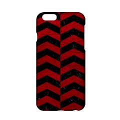 Chevron2 Black Marble & Red Leather Apple Iphone 6/6s Hardshell Case by trendistuff