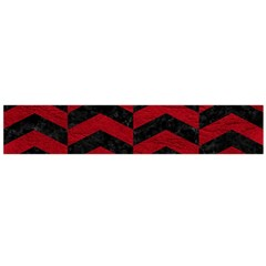 Chevron2 Black Marble & Red Leather Flano Scarf (large) by trendistuff