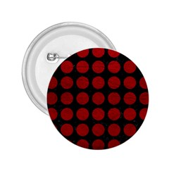 Circles1 Black Marble & Red Leather (r) 2 25  Buttons by trendistuff