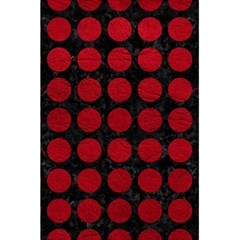 Circles1 Black Marble & Red Leather (r) 5 5  X 8 5  Notebooks by trendistuff