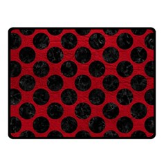 Circles2 Black Marble & Red Leather Fleece Blanket (small) by trendistuff