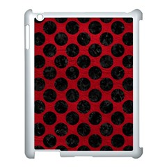Circles2 Black Marble & Red Leather Apple Ipad 3/4 Case (white) by trendistuff