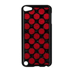 Circles2 Black Marble & Red Leather (r) Apple Ipod Touch 5 Case (black) by trendistuff