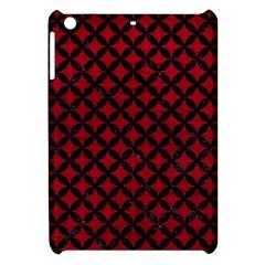 Circles3 Black Marble & Red Leather Apple Ipad Mini Hardshell Case by trendistuff