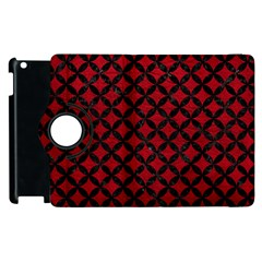 Circles3 Black Marble & Red Leather Apple Ipad 2 Flip 360 Case by trendistuff