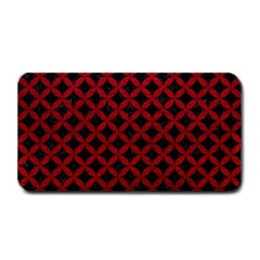 Circles3 Black Marble & Red Leather (r) Medium Bar Mats by trendistuff