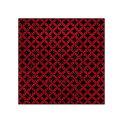 Circles3 Black Marble & Red Leather (r) Acrylic Tangram Puzzle (4  X 4 ) by trendistuff