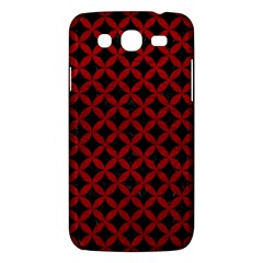 Circles3 Black Marble & Red Leather (r) Samsung Galaxy Mega 5 8 I9152 Hardshell Case  by trendistuff