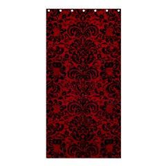 Damask2 Black Marble & Red Leather Shower Curtain 36  X 72  (stall)  by trendistuff