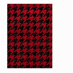 Houndstooth1 Black Marble & Red Leather Large Garden Flag (two Sides) by trendistuff