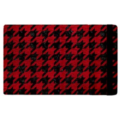 Houndstooth1 Black Marble & Red Leather Apple Ipad Pro 12 9   Flip Case
