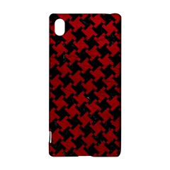 Houndstooth2 Black Marble & Red Leather Sony Xperia Z3+