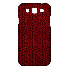 Hexagon1 Black Marble & Red Leather Samsung Galaxy Mega 5 8 I9152 Hardshell Case  by trendistuff