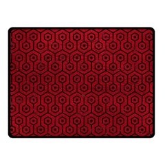 Hexagon1 Black Marble & Red Leather Double Sided Fleece Blanket (small)  by trendistuff