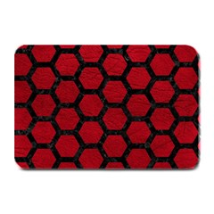 Hexagon2 Black Marble & Red Leather Plate Mats by trendistuff