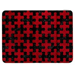 Puzzle1 Black Marble & Red Leather Samsung Galaxy Tab 7  P1000 Flip Case