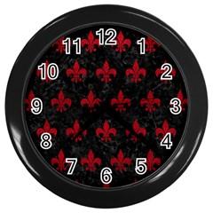 Royal1 Black Marble & Red Leather Wall Clocks (black) by trendistuff