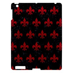 Royal1 Black Marble & Red Leather Apple Ipad 3/4 Hardshell Case by trendistuff