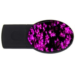 Abstract Background Purple Bright Usb Flash Drive Oval (4 Gb) by Onesevenart