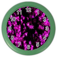 Abstract Background Purple Bright Color Wall Clocks by Onesevenart