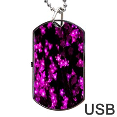 Abstract Background Purple Bright Dog Tag Usb Flash (one Side) by Onesevenart