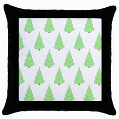 Background Christmas Christmas Tree Throw Pillow Case (black) by Onesevenart