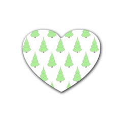 Background Christmas Christmas Tree Heart Coaster (4 Pack)  by Onesevenart