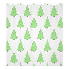Background Christmas Christmas Tree Shower Curtain 66  X 72  (large)  by Onesevenart
