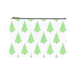 Background Christmas Christmas Tree Cosmetic Bag (large)  by Onesevenart