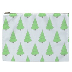 Background Christmas Christmas Tree Cosmetic Bag (xxl)  by Onesevenart