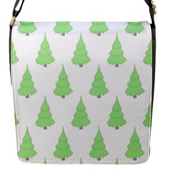 Background Christmas Christmas Tree Flap Messenger Bag (s) by Onesevenart