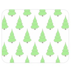 Background Christmas Christmas Tree Double Sided Flano Blanket (medium)  by Onesevenart