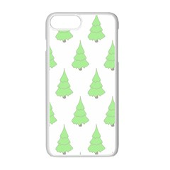 Background Christmas Christmas Tree Apple Iphone 7 Plus White Seamless Case by Onesevenart