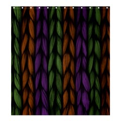 Background Weave Plait Purple Shower Curtain 66  X 72  (large)  by Onesevenart