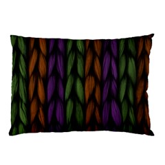 Background Weave Plait Purple Pillow Case (two Sides) by Onesevenart