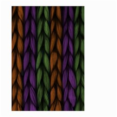 Background Weave Plait Purple Small Garden Flag (two Sides) by Onesevenart