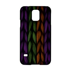 Background Weave Plait Purple Samsung Galaxy S5 Hardshell Case  by Onesevenart