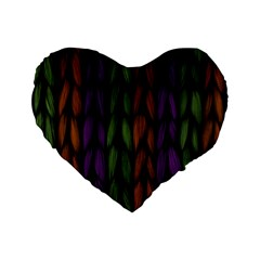 Background Weave Plait Purple Standard 16  Premium Flano Heart Shape Cushions by Onesevenart