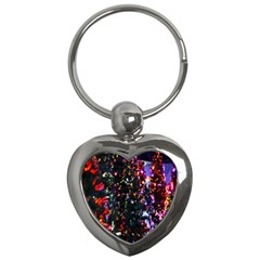 Abstract Background Celebration Key Chains (heart)  by Onesevenart