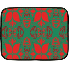 Christmas Background Fleece Blanket (mini) by Onesevenart