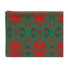 Christmas Background Cosmetic Bag (xl) by Onesevenart