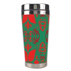 Christmas Background Stainless Steel Travel Tumblers by Onesevenart