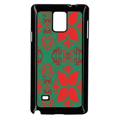 Christmas Background Samsung Galaxy Note 4 Case (black) by Onesevenart
