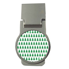 Christmas Background Christmas Tree Money Clips (round)  by Onesevenart